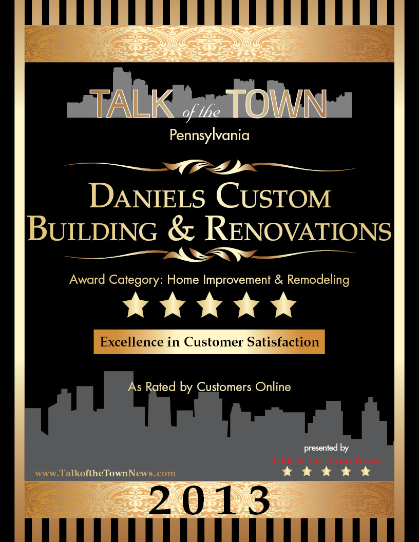 Talk of the Town: Excellence in Customer Satisfaction 2013 winner.